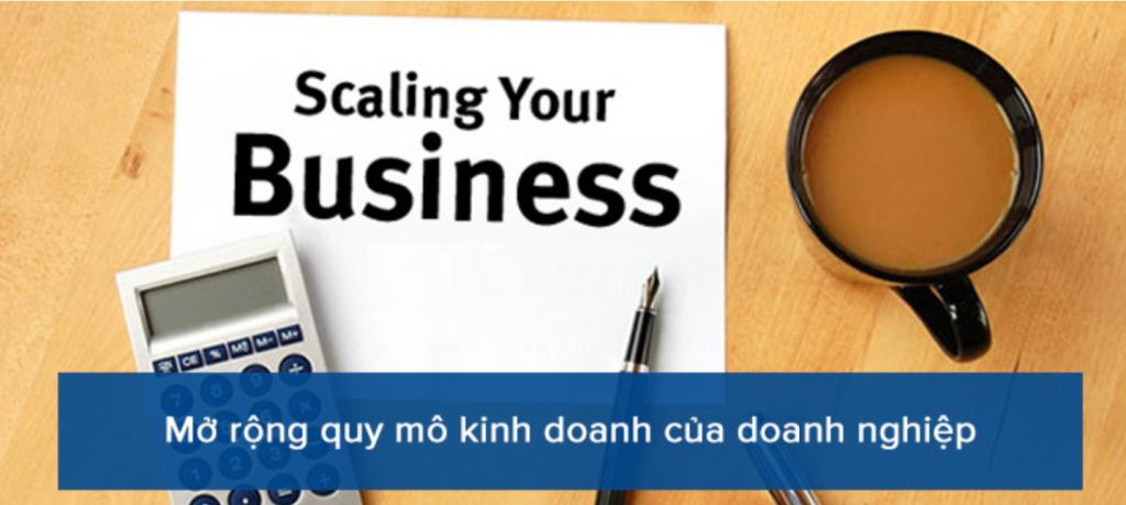 Mở rộng quy mô kinh doanh